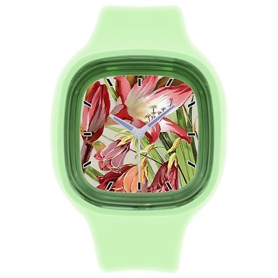 kosmore deportes Classic Cool deportes relojes para mujer de goma reloj verde