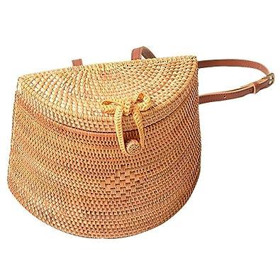 Amazon.com: SODIAL - Mochila de paja tejida para niña y ...