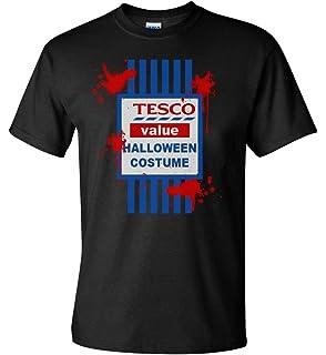 Tesco Value Halloween Costume T Shirt funny fancy dress men women kids top scary