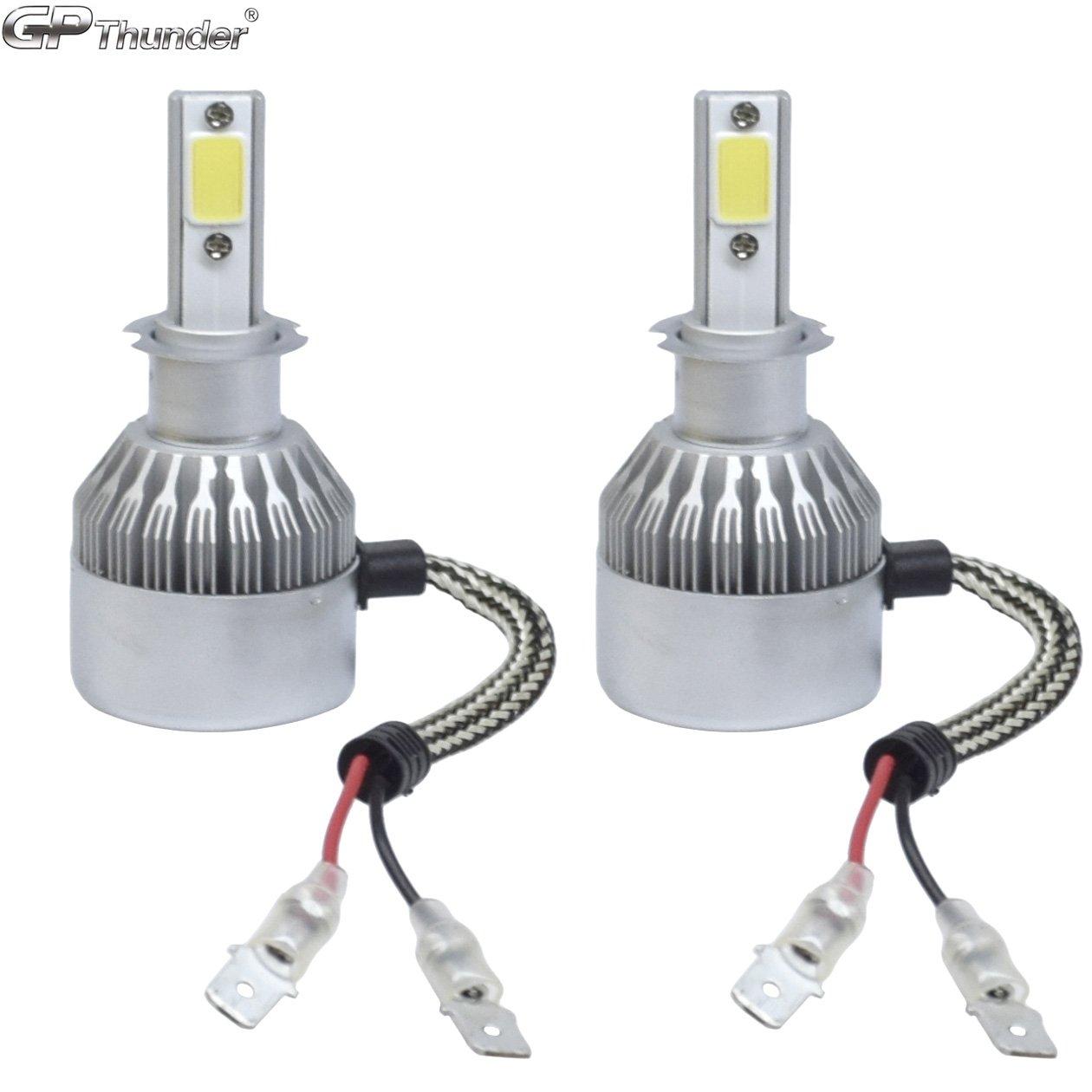 2 Pack GP Thunder GP-LH-H3 Headlight Bulb 80W 6000K 8000LM For Low or High Beam or Fog Light