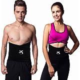 Jinzhikang Premium High Waist Trimmer Belt for Women Men Body Shaper Slimming Workout Sauna Yoga Gym Exercise Weight Loss - Adjustable