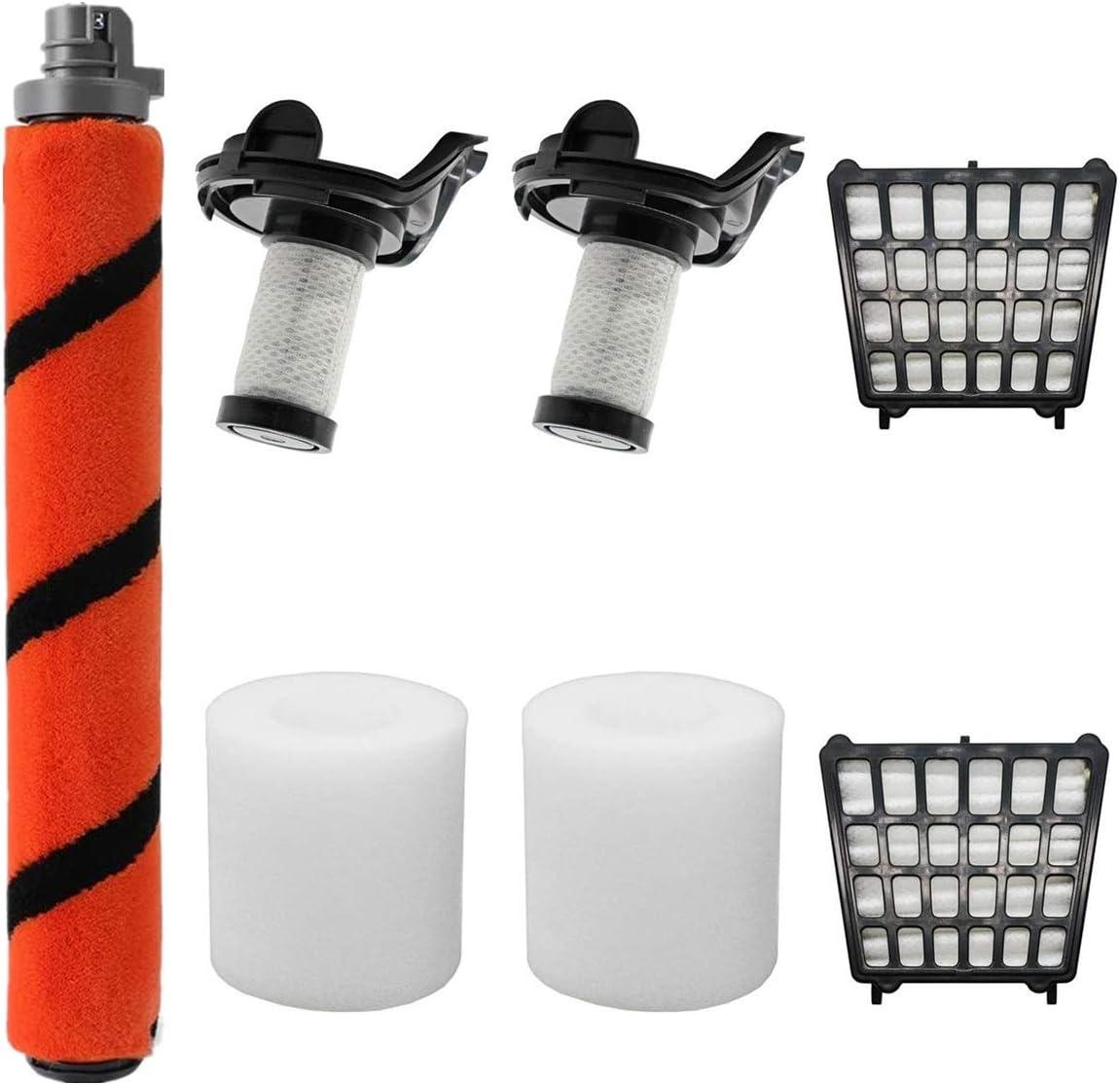 LLHome 1Carpet Roller Brush 2 HEPA Filters 2 Foam Filters 2 Pre-Motor Filters Replacement Parts for Shark Flex DuoClean Corded Ultra-Light Vacuum HV390, HV391, HV392.