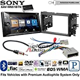 Volunteer Audio Sony XAV-W651BTN Double Din Radio Stereo Install Kit with Bluetooth, Pandora, iPhone Control, USB, AUX, Navigation Fits 2007-2010 Edge (Without factory amplified sound)