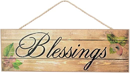 """Stars Rustic Primitive Blessings Sign 15/""""x5/"""""""