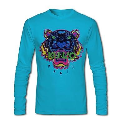 Camiseta de manga larga para hombre, diseño cabeza de tigre de KENZO l blue XX-Large: Amazon.es: Ropa y accesorios