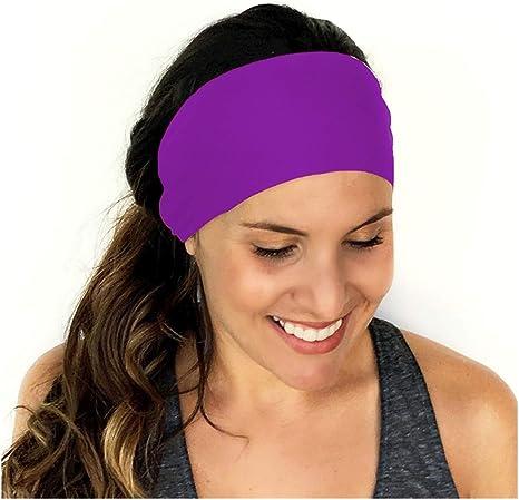 Femmes Yoga élastique Fleur Turban Tête Enveloppe Bandeau Tordu Noué Cheveux Bande