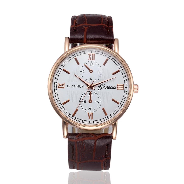 メンズレトロ腕時計、Sinmaエレガントなレザー腕時計アナログ合金クォーツ腕時計 B071V6TD9H