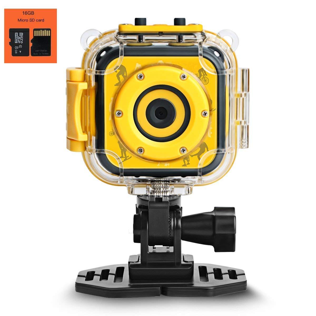 Spmywin Children Kids Action Camera Digital Video HD Camcorder DV Waterproof 20mWater Depth Available best gift for children