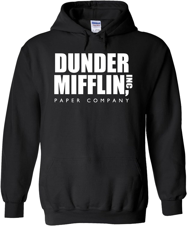 The Office Dunder Mufflin INC Paper Novelty Black Men Women Unisex Hooded Sweatshirt Hoodie