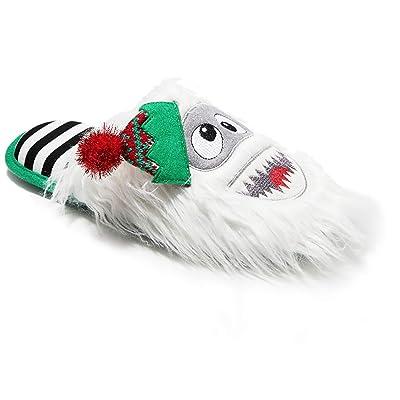 Dearfoams Yeti Abominable Snowman Slipper Slides Unisex, Memory Foam (X-Small (Women 7-8)) | Slippers