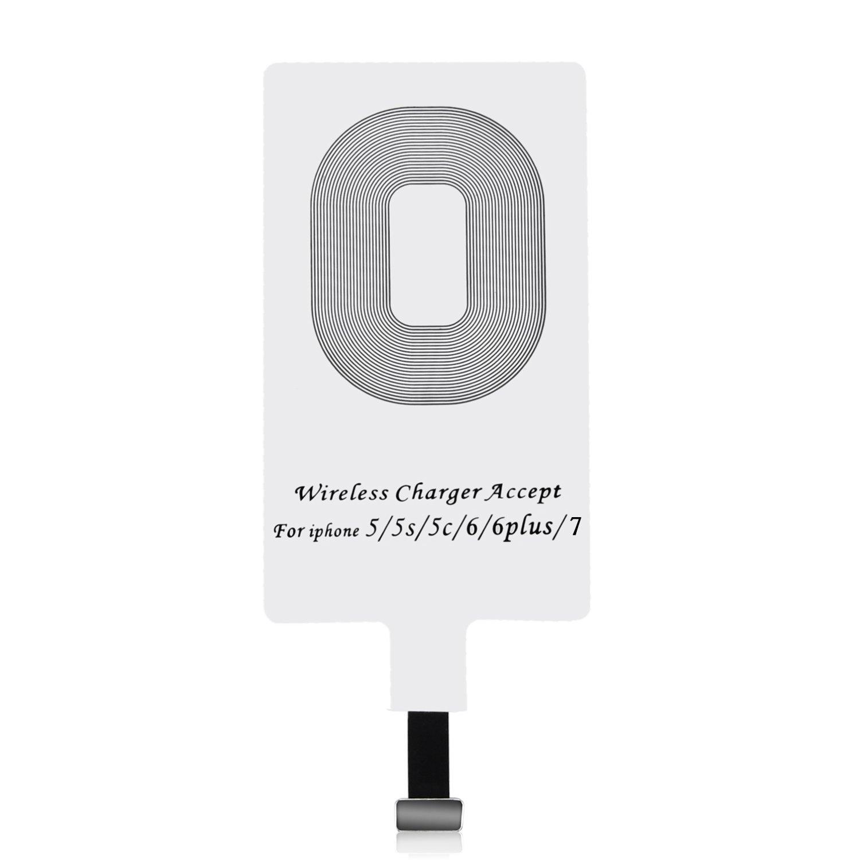 iPhone Qi Receptor,Choe Receptor de Carga Inalámbrico/Ultra Fino Wireless Receptor/Qi...