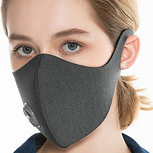 BASE CAMP SPY Dust Mask with Activated Carbon Filter (Gray)