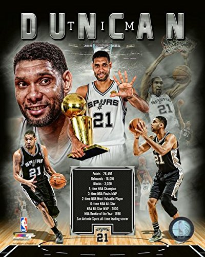 Tim Duncan San Antonio Spurs NBA伝説コンポジット写真(サイズ: 20