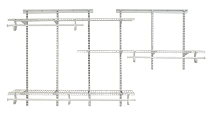 amazon com closetmaid 2075 shelftrack 5ft to 8ft adjustable rh amazon com ClosetMaid SuperSlide Support Rod 12 FT Rod Closet