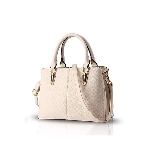 NICOLE & DORIS Donna Borse di moda Borsa a Spalla borse a tracolla di lusso in pelle PU Bianco crema