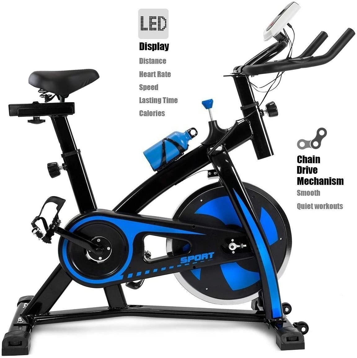 Zcalasky Bicycle Cycling Fitness Gym Exercise Stationary Bike Cardio Workout Home Indoor