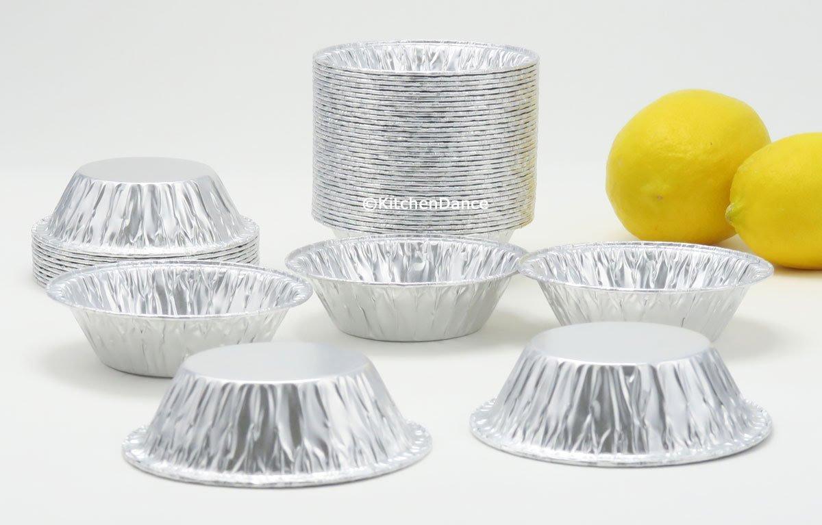 KitchenDance 3'' Disposable Aluminum Tart Pans/Mini Pie Pans #301- Pack Of 100 by KitchenDance (Image #5)