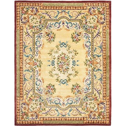 Safavieh Empire Collection EM822A Handmade Traditional European Gold Premium Wool Area Rug (9' x 12')