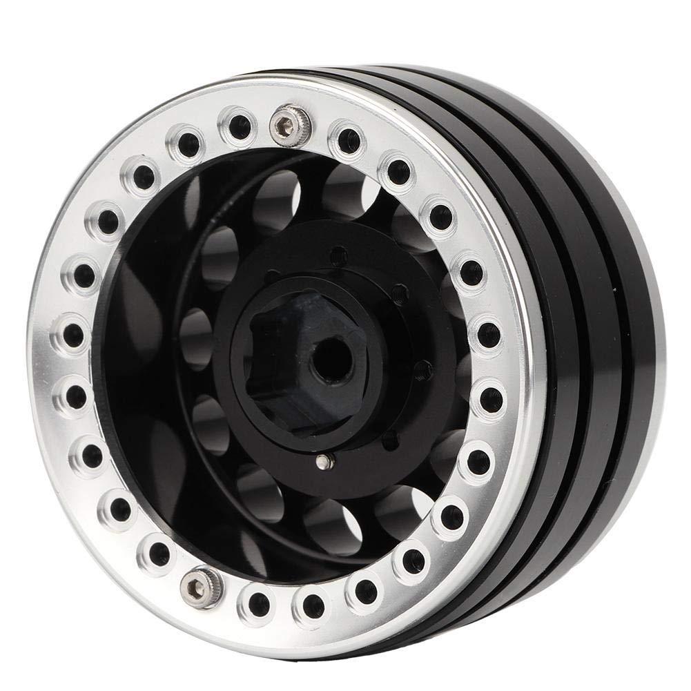 VGEBY1 4 Unids RC Llantas Azul Plateado 1.9in Hub Wheel Llantas de Aluminio Beadlock Set para SCX10 1//10 RC Crawler Car