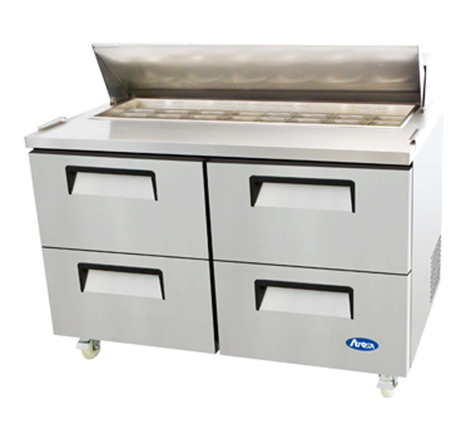 Atosa Usa MSF8313 Stainless Steel Sandwich Prep Table 60'' 4 Drawer Refrigerator