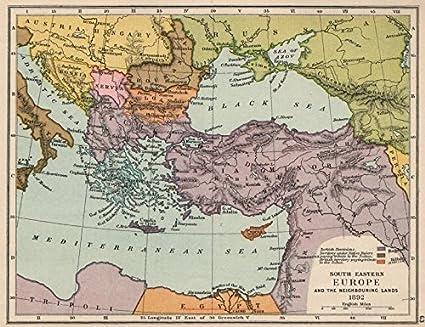 Amazon com: SE EUROPE 1892  Ottoman Empire  British Cyprus