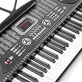 Hamzer-61-Key-Electronic-Piano-Electric-Organ-Music-Keyboard-with-Microphone-Black