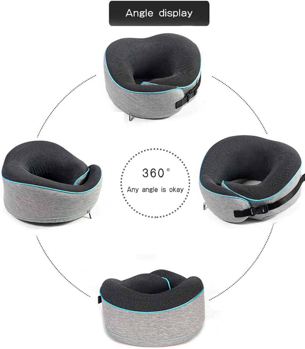 100/% Pure Viscoelastic Foam Ciajie Travel Pillow Prevents the Head from falling forward Neck and Chin in any sitting position Comfortably support the Head