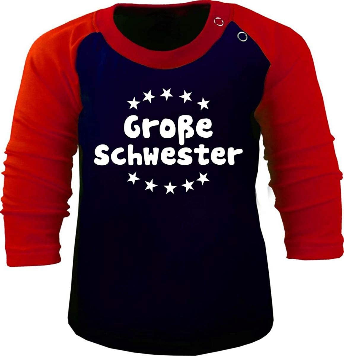 KLEINER FRATZ Baby//Kinder Baseball Langarm T-Shirt Gro/ße Schwester
