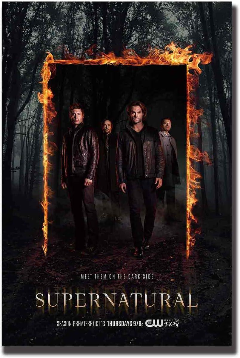 SUPERNATURAL TV SERIES Art Silk Poster 12x18 24x36