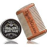 Urban Prince Beard Balm Conditioner Beard Butter Moisturizer and 4Klawz Pocket Beard Comb Gift Set Beard Care Kit Premium Beard Grooming Kit - Best Daily Beard Grooming Balm Gift Set Kit with Comb