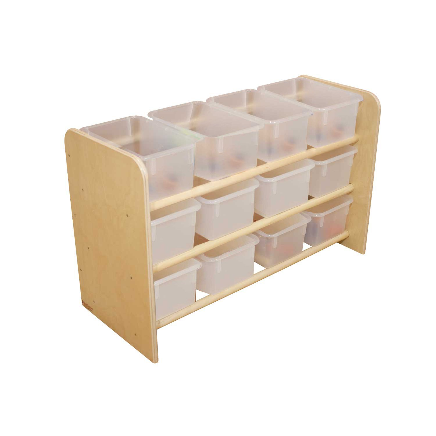 Wood Designs WD13801 See-All Storage with (12) Translucent Trays, 21 x 33 x 14'' (H x W x D)