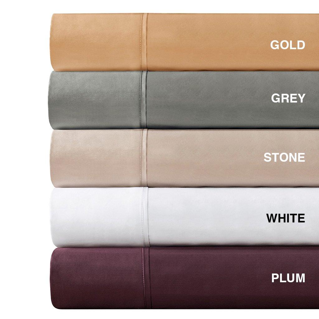 amazoncom madison park 600 thread count pima cotton sateen sheet set queen plum home u0026 kitchen - Pima Cotton Sheets