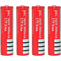 Skytower BRC 18650 3000mAh 3.7V Lithium Rechargeable Battery for Ultrafire Cree LED Flashlight Torch Headlamp (4pcs)