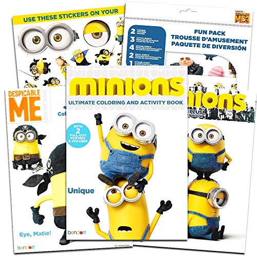 Despicable Me Minions Coloring and Activity Book Super Set with Stickers, Tattoos, Play Scenes, Posters, and More (3 Coloring Books and Fun Pack) ()
