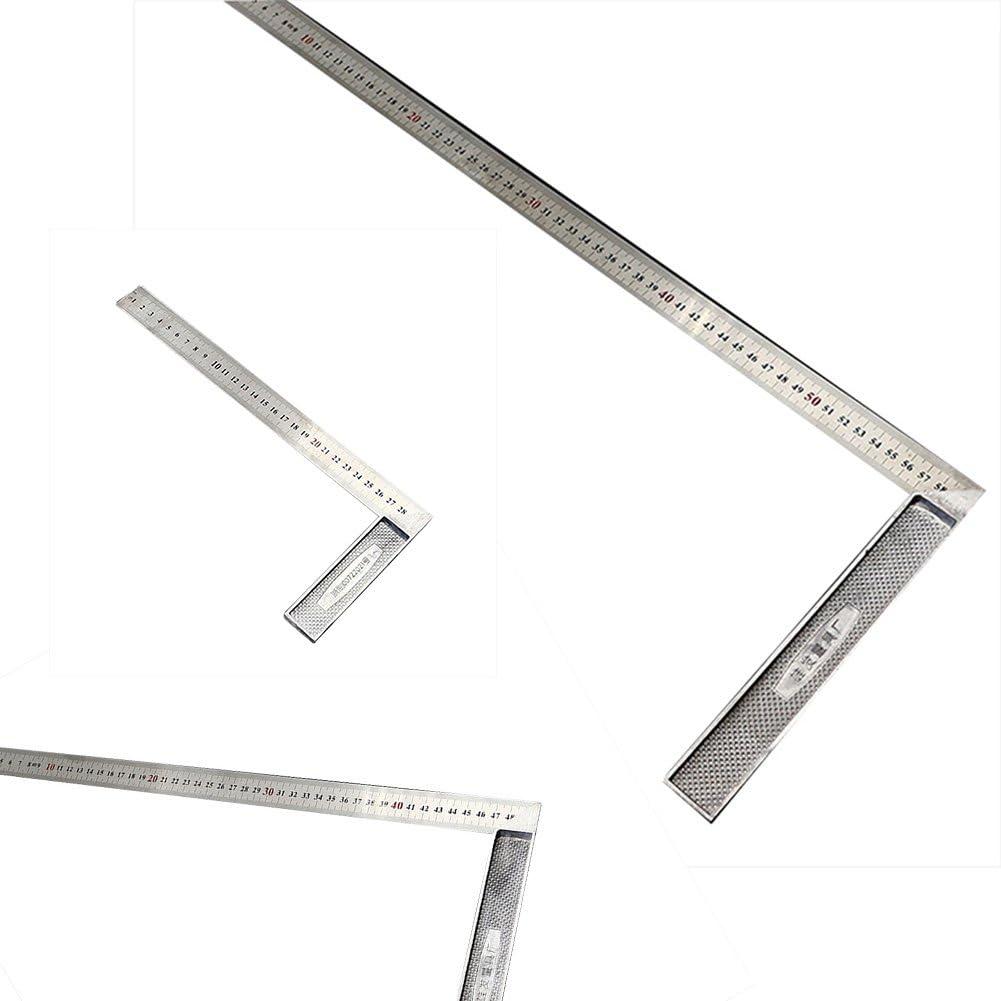 Dxlta 30//50//60CM Stahllineal 90 Grad Winkel Metrische Herrscher Liefert Zimmerei Messwerkzeug