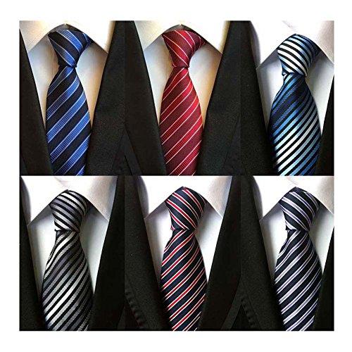 Classic Woven Tie - WeiShang Lot 6 PCS Classic Men's 100% Silk Tie Necktie Woven JACQUARD Neck Ties (Style 6)