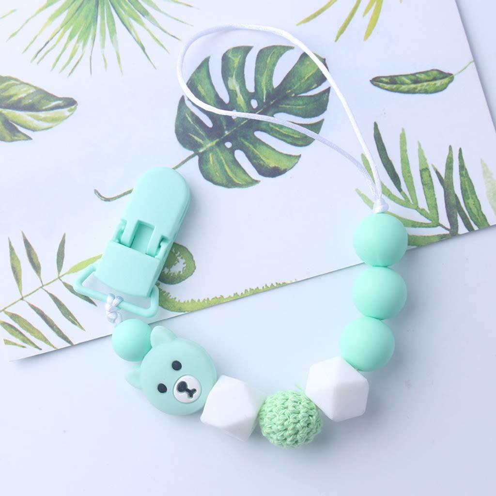FXCO Cadena para Chupete de bebé, para niños y niñas, diseño ...
