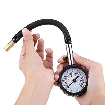 Manómetro de Presión de Neumático Rueda Acero Inoxidable Alta Precisión: Amazon.es: Coche y moto