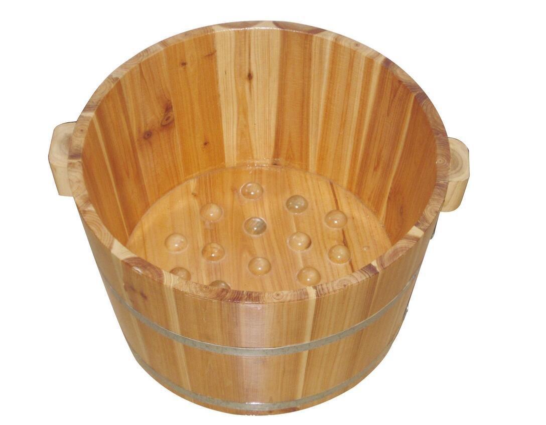 AMYMGLL Chinesisch für Fuß Bad Spa Haus Holz Barrel Holzbecken mit Massage-Granulat