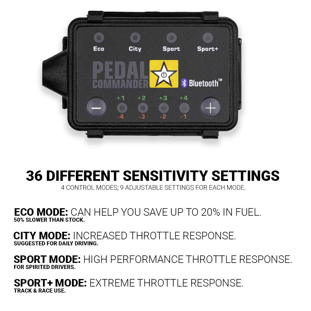 Pedal Commander Throttle Response Controller PC18 Bluetooth for Ford F-150 Trucks 2010 and newer Fits All Trim Levels; XL, XLT, King Ranch, Lariat, Limited, Platinum, FX2, FX4, Harley Davidson