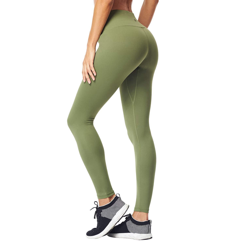 87e9f4b36 ... Matymats Womens Tummy Control Yoga Leggings High Waist Non See Through Running  Workout Pants Pockets ...