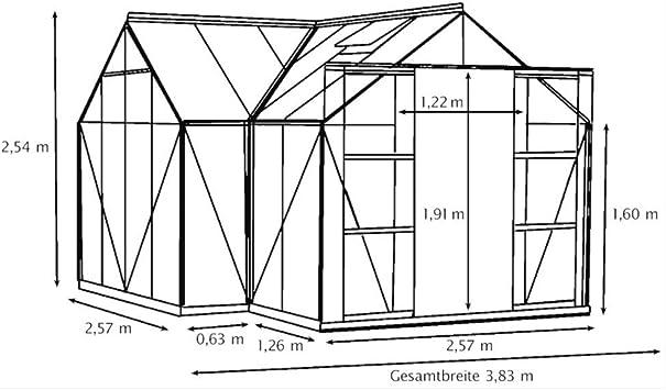 Vitavia Sirius ESG - Invernadero, 3 mm, 13 m², color negro: Amazon ...