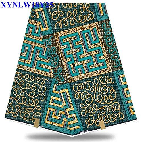 (Fabric   Hot Selling 100% Cotton African Wax Cloth hollandais Wax African Super Dutch Wax 6yards/pcs XY3H14   by)