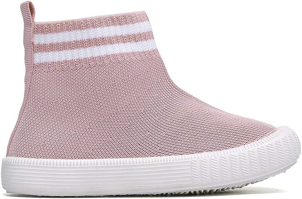 Child Girls Athletic Running Sneakers Boys Breathable Walking Slip on Sock Shoes
