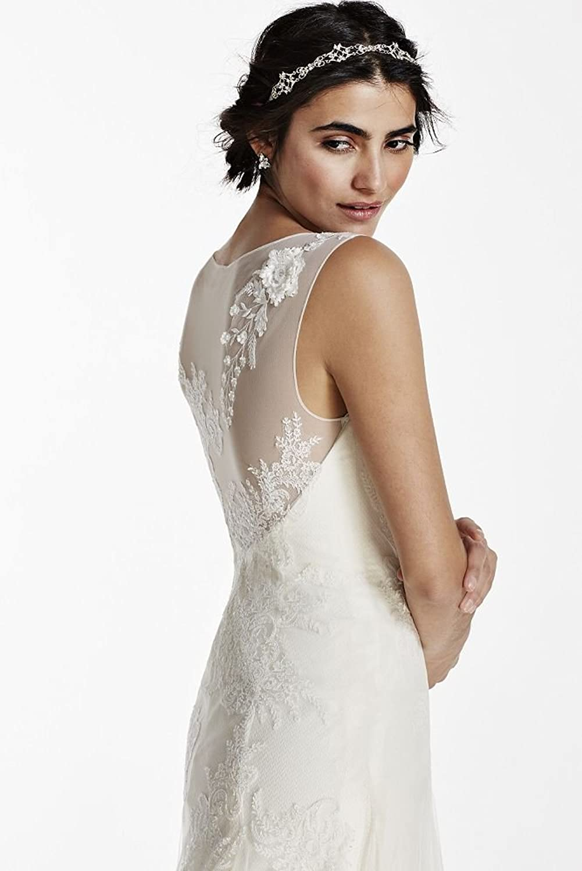 David\'s Bridal Melissa Sweet Tank Tulle Wedding Dress With Beads ...