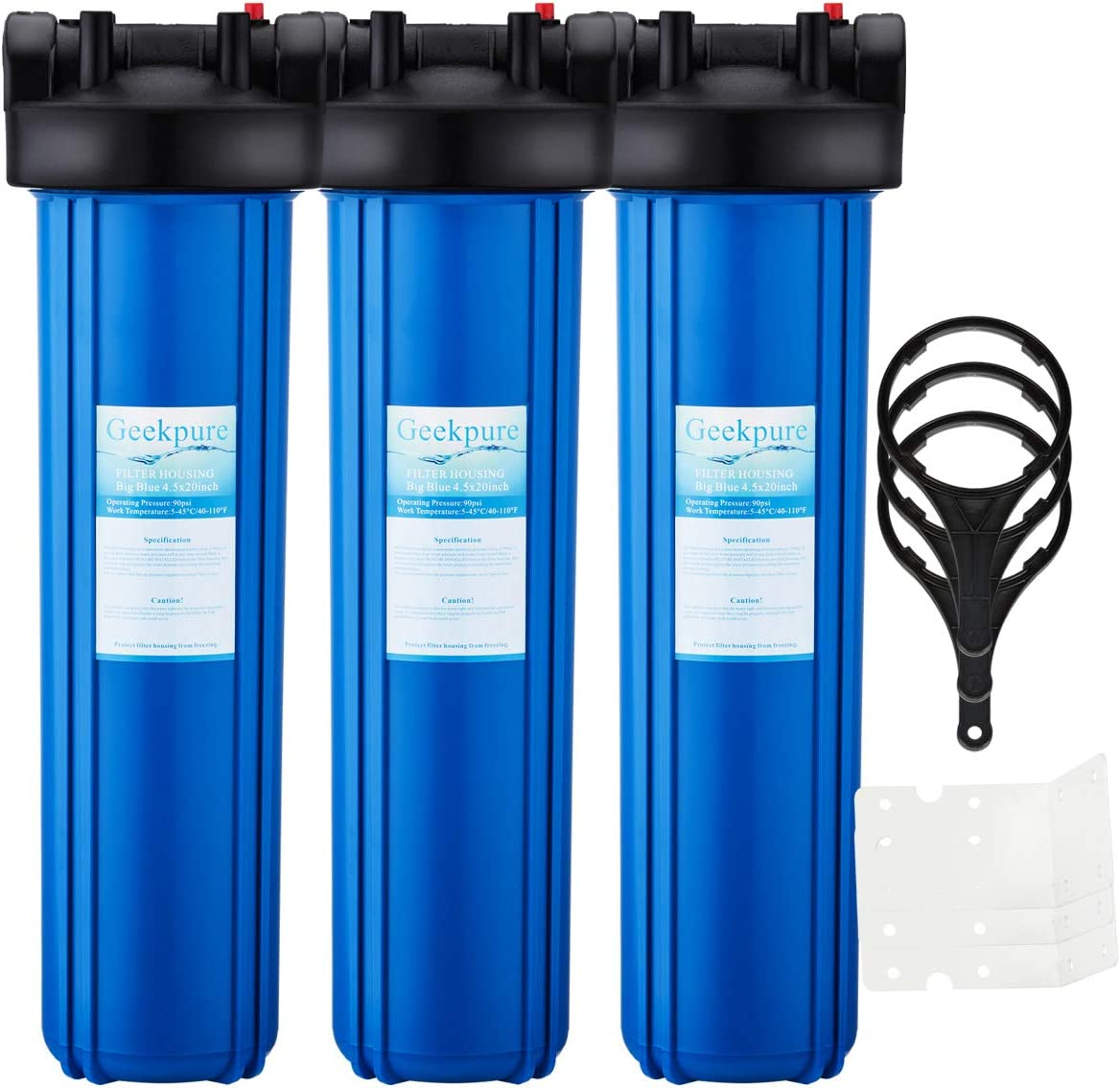 Geekpure BB-20B 3-Stage Whole House Water Filter