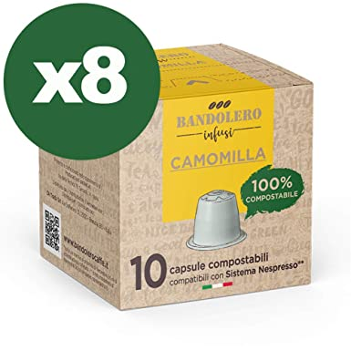 BANDOLERO 100% Compostable Made in Italy, 80 Cápsulas Compatibles ...