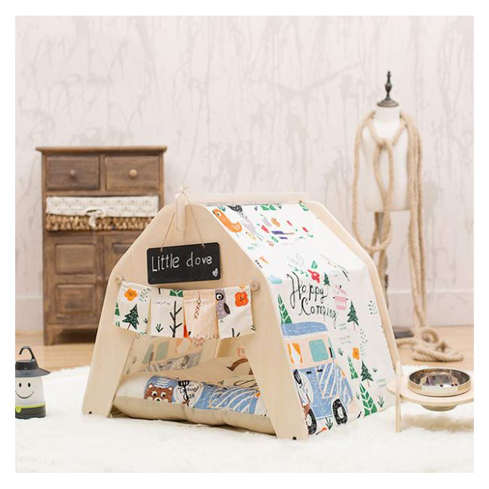 Mat Small Mat Small GDDYQ Pet House Indoor Pet Tent Cat Dog Game House and Small Blackboard Detachable Cleaning, There are Many Options,mat,S