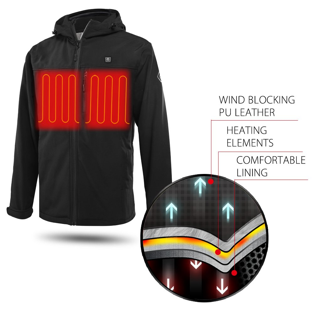 CLIMIX Men's Heated Jacket Kit with Battery Pack (L) by CLIMIX (Image #3)