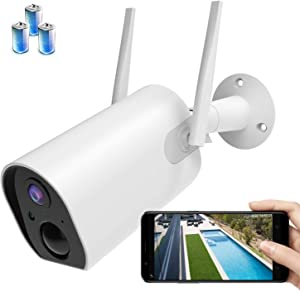 Wireless Outdoor Security Camera WiFi, WinDrogon Rechargeable Battery-Powered Home Security Camera, 15000mAH Ultra Large Capacity, 1080P Night Vision/Waterproof, PIR Motion Detection